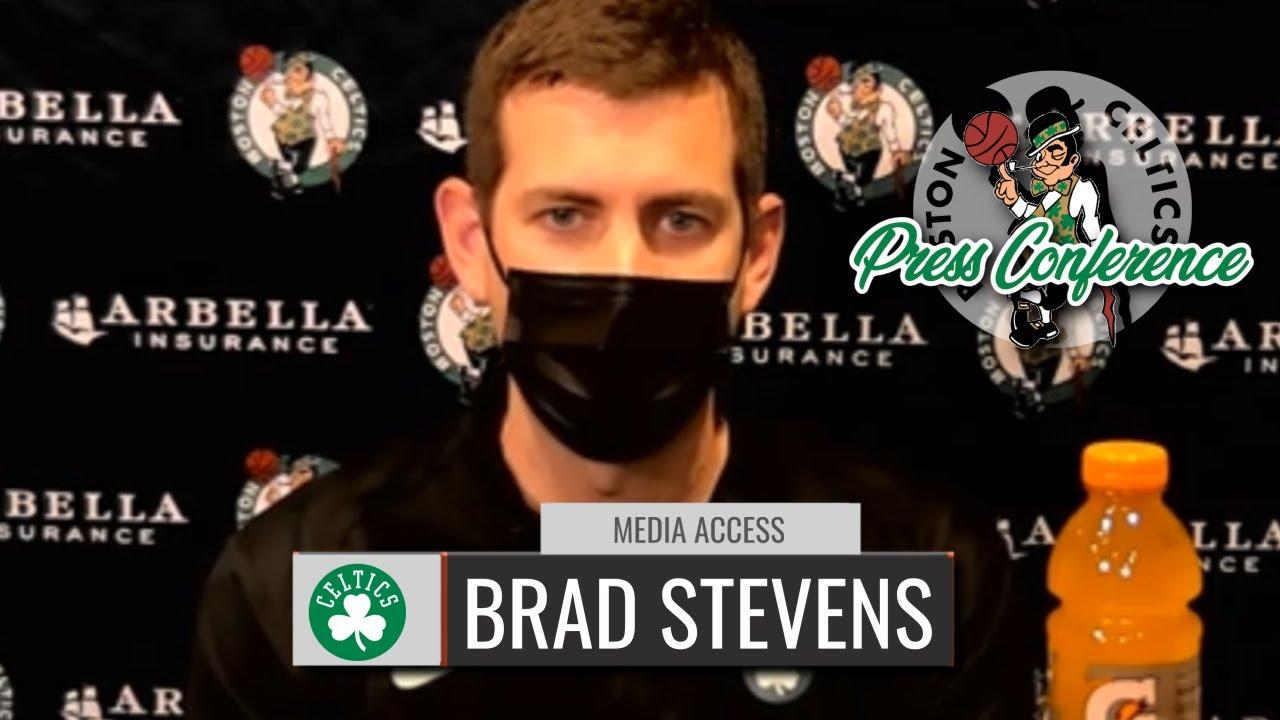 Brad Stevens On Jaylen Brown's Season-ending Injury | Celtics vs Heat | CLNS Media